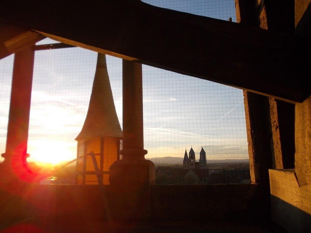 Die Laterne, aufgestellt zur Halberstädter Sage am Dom